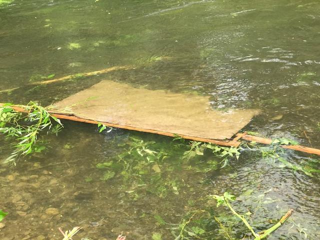 Angeschwemmter Müll in der Würm