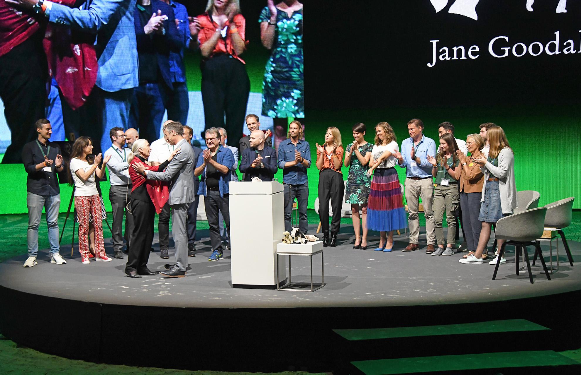 Alle bedanken sich bei Jane