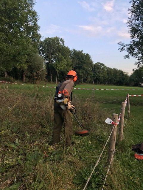 Bernd, unser Gärtner bei der Arbeit.