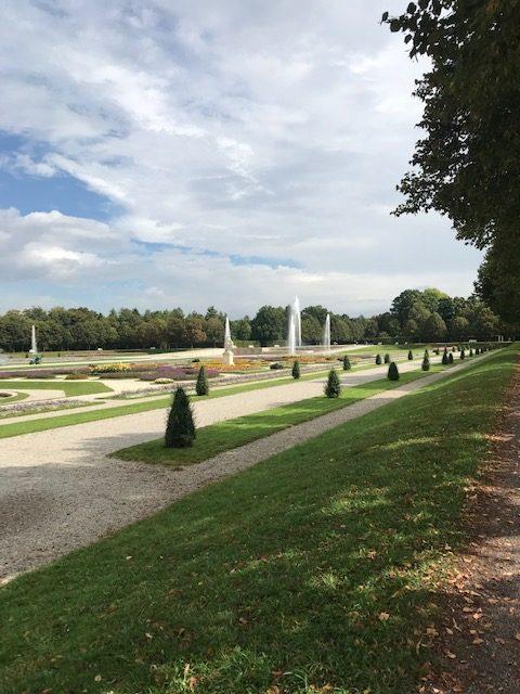 Springbrunnen im Schlosspark Schleißheim